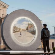 Vilnius, Lithuania constructed a 'portal ' to a different town to assist keep other folks attached